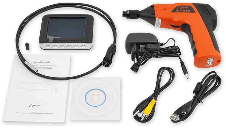 inspekční kamera 5,5 s bezdr. LCD a záznamem