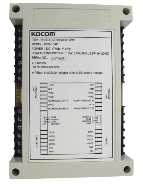 video/audio/data distributor pro adresný systém videotelefonu