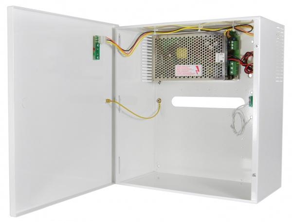 Univerzální zálohovaný zdroj 12V/10A v kovovém krytu s transformátorem