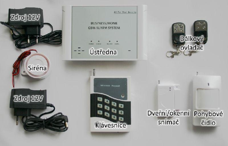 bezdrátový GSM alarm s klávesnici