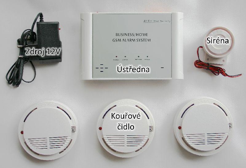 GSM sada - požární detekce