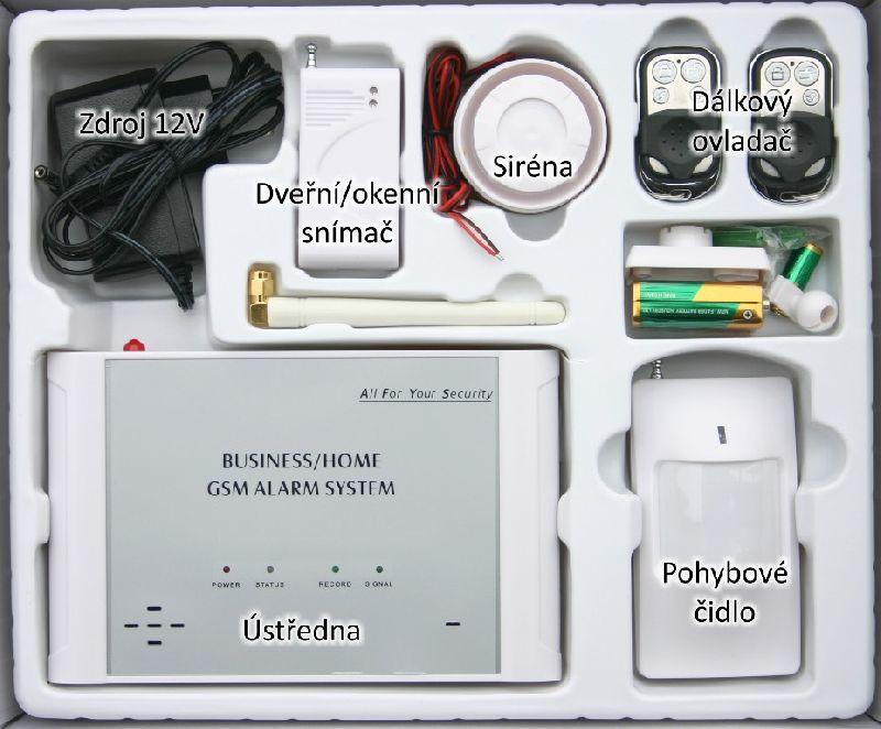 GSM-01 gsm alarm kompletní sada