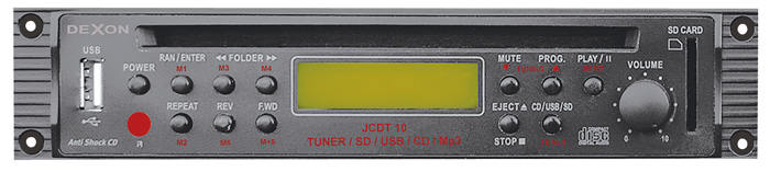 Modul CD, tuneru, USB a SD